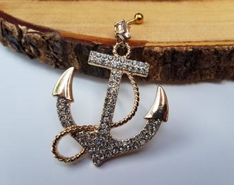 Chandelier Anchor Belly Ring