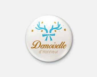 Winter wedding - bridesmaid badge