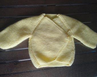 made with acrylic yellow bra