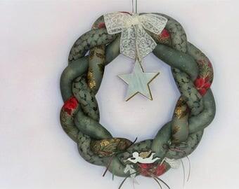 Christmas Wreath - Christmas ornament - braided Christmas wreath.