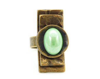 Small ring long KARLA Green