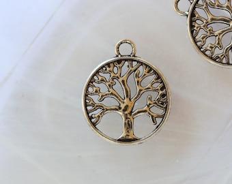 Silver tree charm