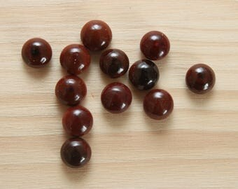10 cabochons round glass 6 mm, Brown n 62