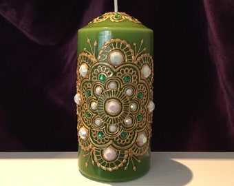 Green Henna Candle