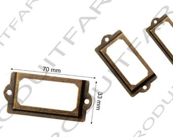 Set of 4 door tag color Bronze drawer filing cabinet craft drawer 70 x 33