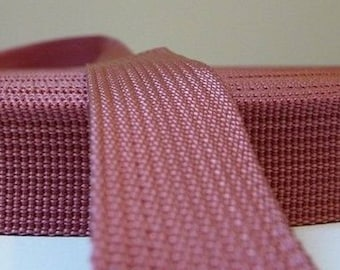 25 mm old pink polypropylene webbing