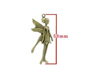 Pendant representing a fairy bronze model a. For jewelry making. Size approx 58mm