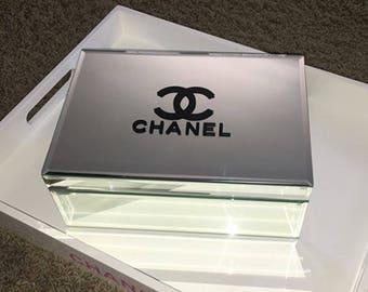 Designer Inspired Jewelry Box! Mirrored