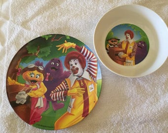 McDonald's plate and bowl