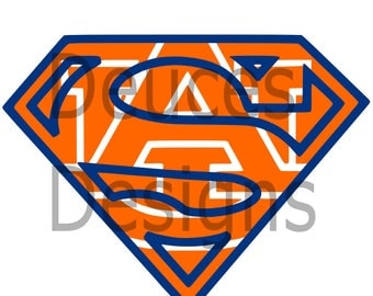 Auburn Superman Symbol Digital File