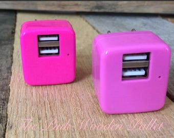 personlized dual USB wall charger