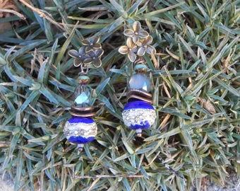"""Earrings """"life in blue"""""""