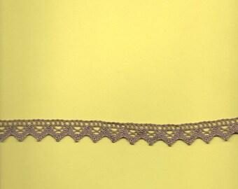 """1 m 95 cotton lace """"beige - khaki"""" (stranded 3032) 2cm wide"""