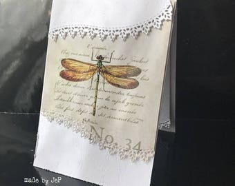 Dragonfly and paper lace, for any occasion card