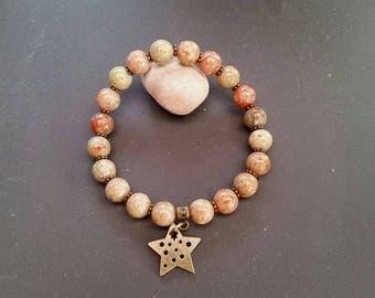 Unakite (8 mm beads) bracelet