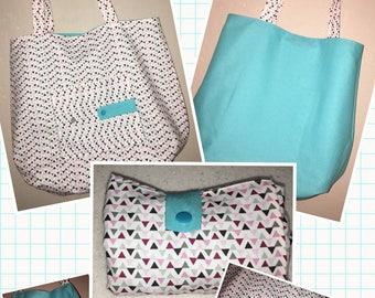 Reversible folding bag