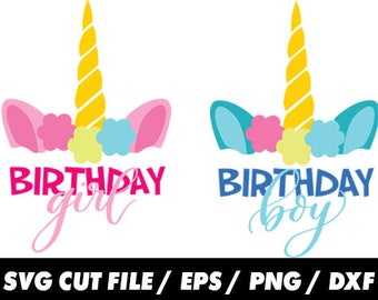 Unicorn birthday, Unicorn birthday svg, Unicorn svg, Birthday girl svg, birthday boy svg, birthday svg, unicorn girl svg, unicorn boy svg