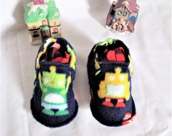 Slippers washable Robots fleece soft and lightweight T:28 / 30