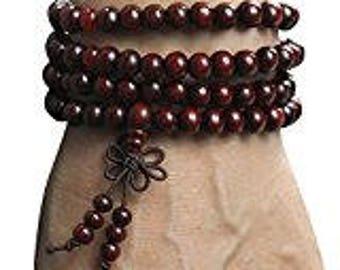 Tibetan 108pcs 6mm Rosewood Prayer Beads Buddha Mala Buddhist Bracelet Necklace