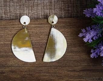 Buffalo Horn Earrings Horn Earrings Horn Jewelry Horn Earrings Horn Schmuck Horn Accessories TA 26027