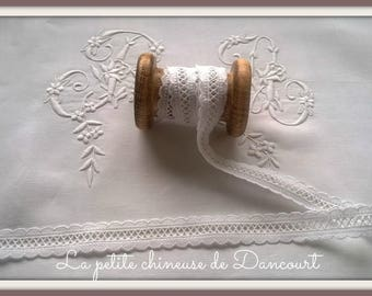 2cm white broderie Anglaise ladder Ribbon