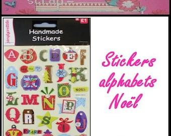 "Christmas alphabet stickers ""Simplycreative"" scrapbooking cardmaking 1 (ref.110) *."