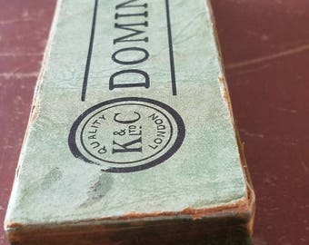 1930s K&C Ltd London 28 Vintage Double Six Dominoes Toy Pub Traditional