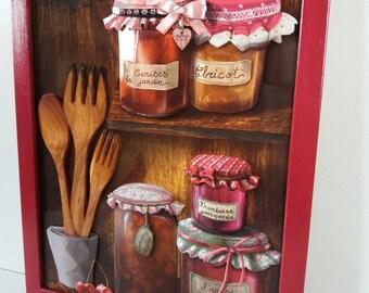 """Canvas 3d """"Jars of jams"""" framed ON ORDER"""