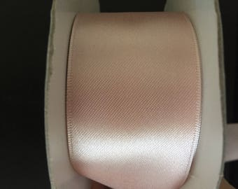 width 4cm powder pink satin ribbon