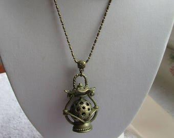 beautiful Lantern pendant necklace Chinese bronze