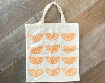 Orange slice tote