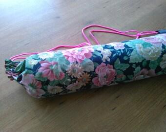 Upcycled yoga mat bag