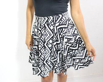 Skirt skater-Corolla-flared-loose-fitting ethnic patterns