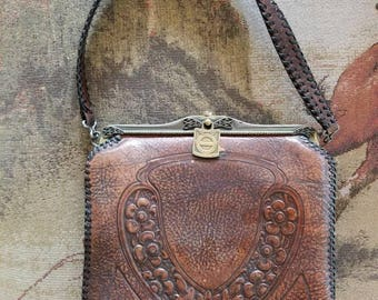 Vintage Tooled Purse from the 1880s All leather