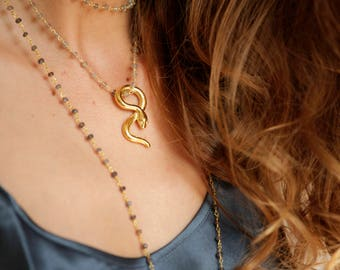 Gold plated silver Snake Eden collection