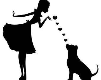 Girl loves pitbull