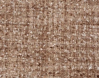 Coupon of ecru and beige tweed fabric high quality