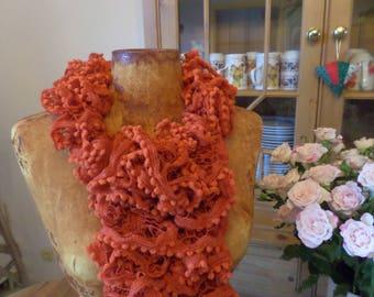 frou frou orange scarf
