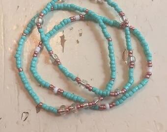 Set of 3 turquoise bracelets