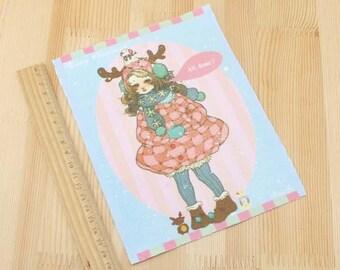 Patchwork winter fabric coupon