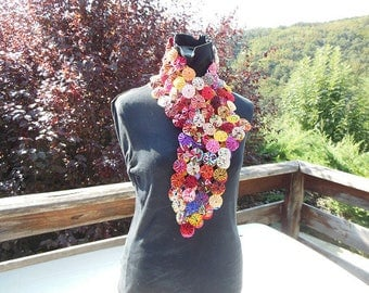Yoyos scarf, cotton fabrics (E8)