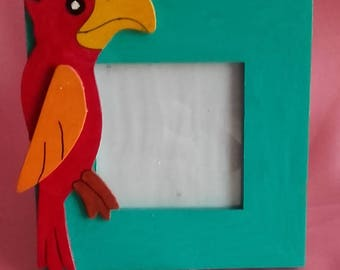 Parrot for kids room picture frame