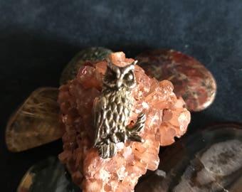 Artist made Owl Sterling Silver Pendant