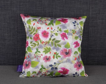 Fruits of the Forest Floral Cushion
