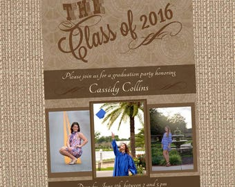 Printable Cassidy Graduation Announcement/Party Invitation