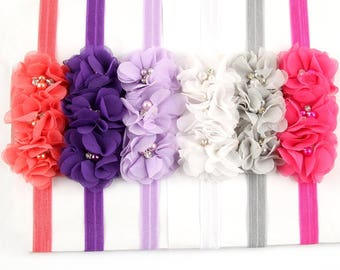 Baby Headbands Toddler Hairbands with Flower