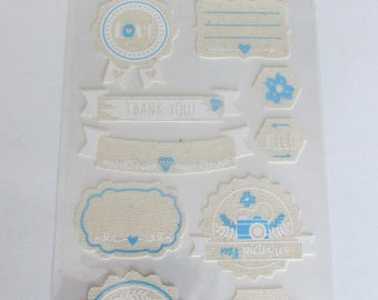 Fabric adhesive stickers