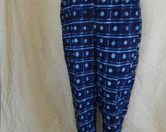 Pants Navy Blue indigo square and cowries