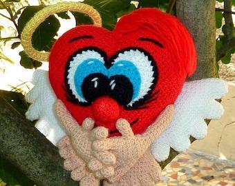 Crochet - heart Valentine's gift doll doll