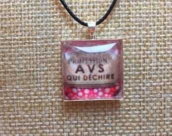 """Necklace cabochon """"AVS that tears"""""""